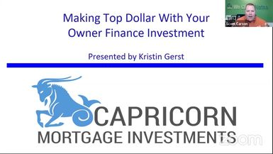 Structuring Your Owner Finance Notes for Maximizing Your Profits with Kristin Gertz