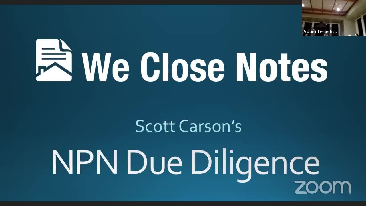 NPN Due Diligence