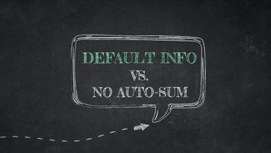 Default Info Originate VS. No Auto Summary