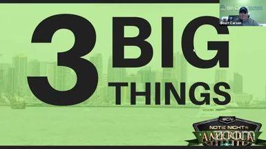 Note Night in America: 3 Big Things