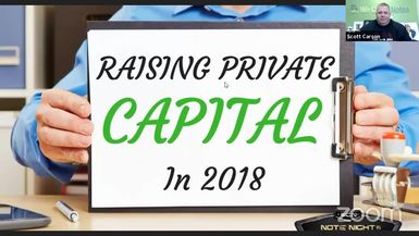 Note Night in America: Building Relationships = Raising Private Capital