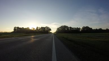 RAAM 2019 Sunrise Heading Eastward