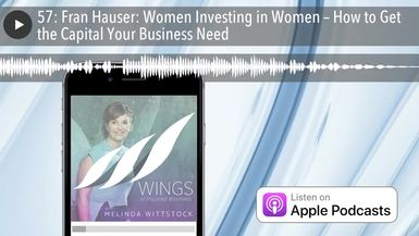 57: Fran Hauser: Women Investing in Women – How to Get the Capital Your Business Need