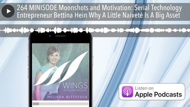 264 MINISODE Moonshots and Motivation: Serial Technology Entrepreneur Bettina Hein Why A Little Nai