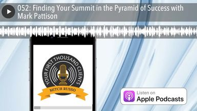 052: Finding Your Summit in the Pyramid of Success with Mark Pattison