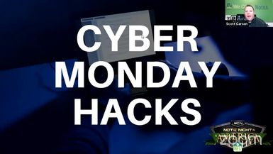 Cyber Monday Hacks - Note Night in America