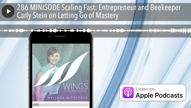 286 MINISODE Scaling Fast: Entrepreneur and Beekeeper Carly Stein on Letting Go of Mastery